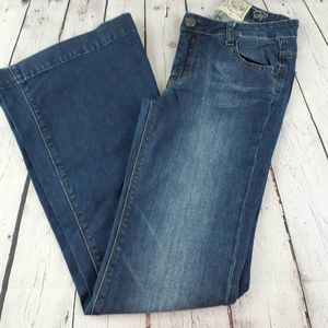 American Rag Flared Blue White Wash Jeans Size 0